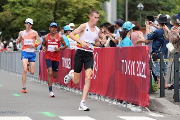 """OS 2020 - Dieter Kersten eindigt in marathon als 59e: """"Vanaf 1e kilometer had ik spaghettibenen"""""""