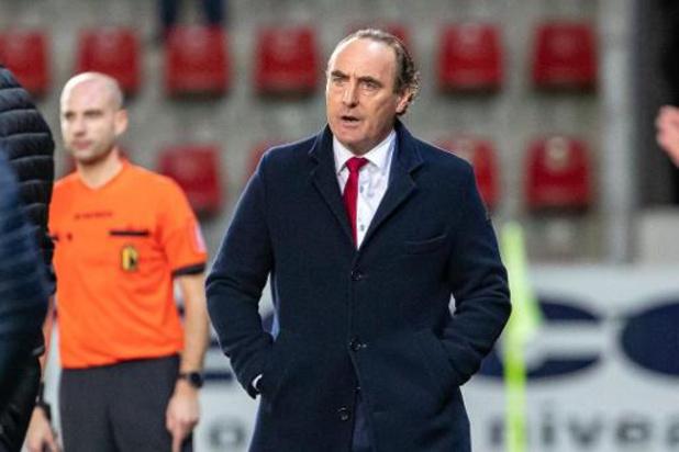 Jupiler Pro League: Bondsparket vraagt twee speeldagen schorsing voor KVK-trainer Vanderhaeghe