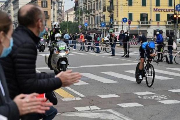 """Victor Campenaerts, 2e derrière Ganna, content de son chrono, mais """"très fatigué"""""""