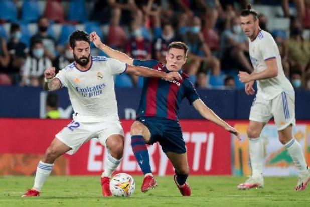 Les Belges à l'étranger - Thibaut Courtois encaisse trois buts et le Real partage à Levante