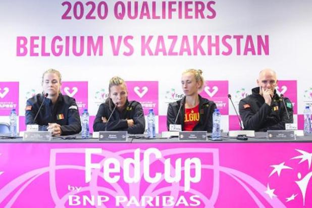 Fed Cup - La Belgique et le Kazakhstan à égalité 1-1 avant les trois derniers matchs ce samedi