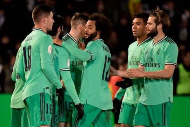 Copa del Rey - Real Madrid, zonder Courtois en Hazard, raakt ook ternauwernood voorbij derdeklasser