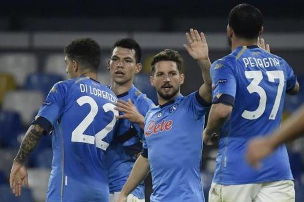 Les Belges à l'étranger - Naples, avec deux assists de Dries Mertens, s'impose facilement à Crotone