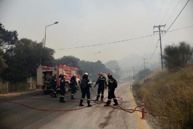 Vier dorpen op Griekse schiereiland Peloponnesos ontruimd wegens bosbrand