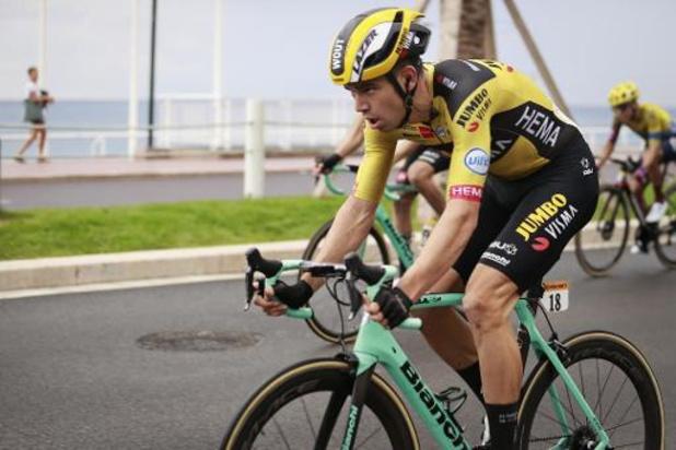 """Tour de France: Wout van Aert rassurant: """"Pas vraiment une chute"""""""