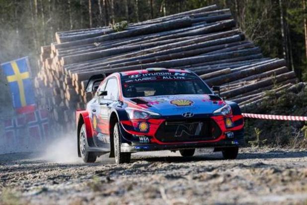 Elfyn Evans en tête après la 1re journée du Rallye de Suède, Thierry Neuville sixième