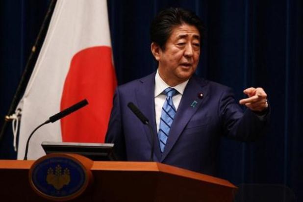 Japanse premier Abe claimt steun van G7 voor 'complete' Spelen