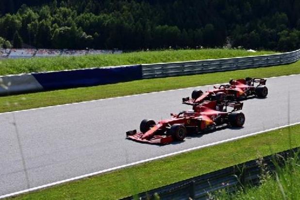 Les Ferrari les plus rapides lors de la deuxième séance d'essais libres du Grand Prix des Pays-Bas de F1
