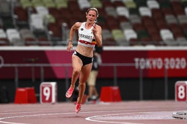 Imke Vervaet geraakt niet voorbij halve finales 200m