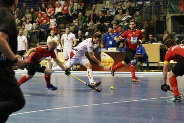 EK hockey indoor (m) - Belgen winnen eerste klassementspartij van Oekraïne, duel tegen Polen cruciaal voor behoud