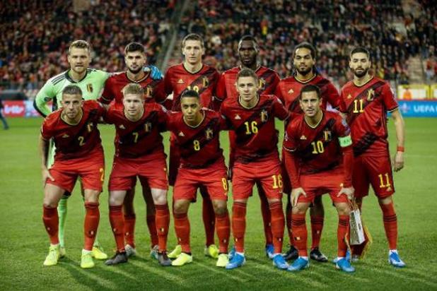 Les Diables Rouges toujours à la 1ere place du classement FIFA