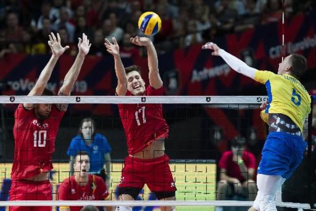 European Golden League de volley - La Belgique battue 3-0 par l'Ukraine en demi-finale