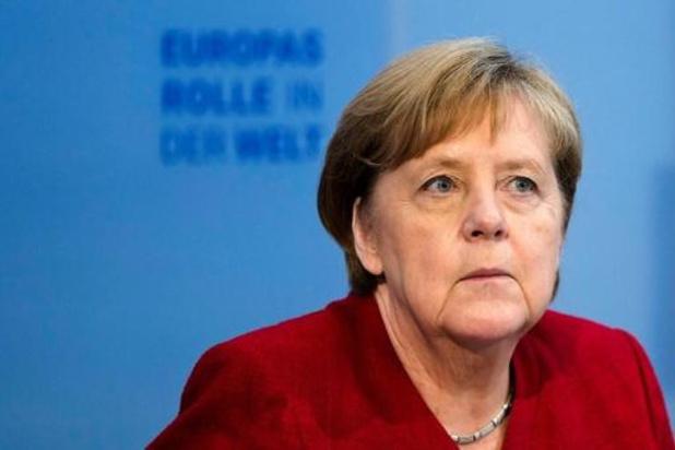 """Euro 2020: Merkel """"très préoccupée"""" par la foule pour les phases finales"""