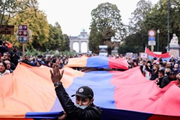 Armeniërs protesteren in Europese wijk in Brussel
