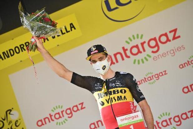 Tour de France - Wout van Aert krijgt Prijs van de Strijdlust