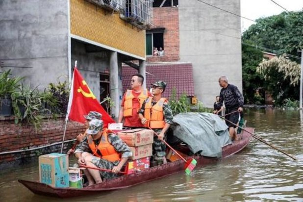 Minstens 100.000 mensen geëvacueerd door overstromingen in China
