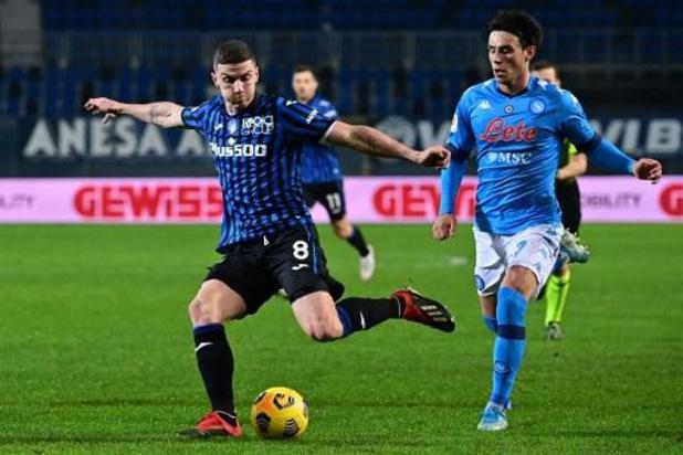 Belgen in het buitenland - Atalanta wint van Napels na doelpuntenkermis in de tweede helft