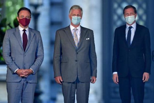 De Wever et Magnette sont arrivés au Palais pour faire rapport au Roi