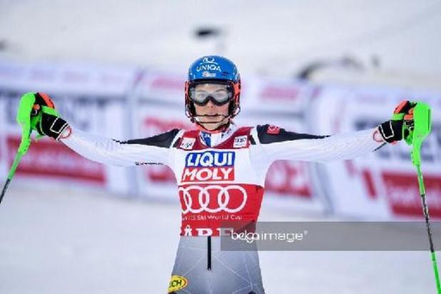 WB alpijnse ski - Petra Vlhova slalomt naar zege in Are