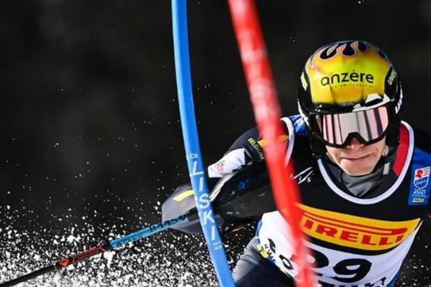 Armand Marchant 12e de la première manche du slalom