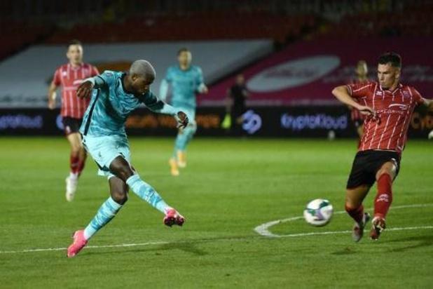 Les Belges à l'étranger - Liverpool, avec Origi, éliminé par Arsenal en Coupe de la Ligue