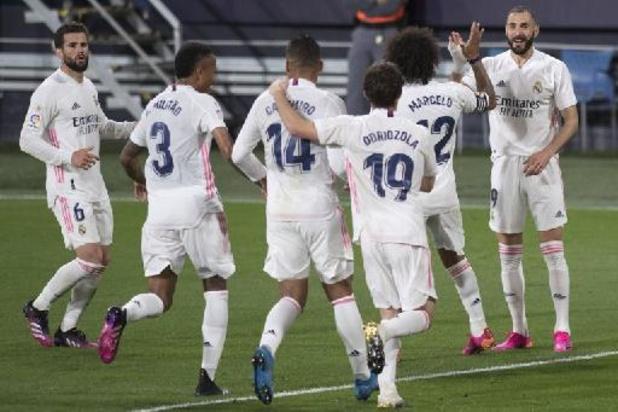Les Belges à l'étranger - Le Real Madrid et Thibaut Courtois s'imposent sans trembler à Cadix