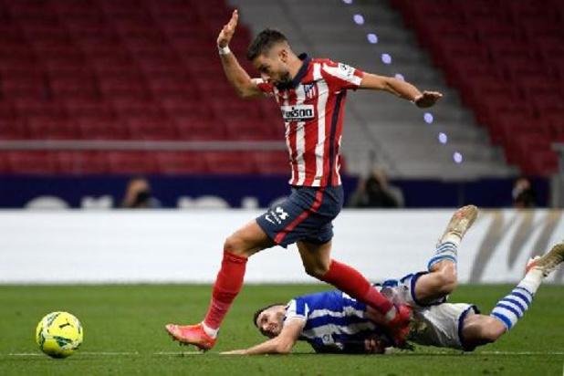 Les Belges à l'étranger - L'Atlético Madrid, avec Carrasco buteur, bat la Sociedad et met la pression sur le Real