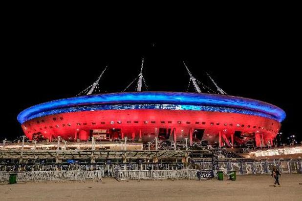 Euro 2020 - Les Diables Rouges à Saint-Pétersbourg dans un stade à moitié rempli