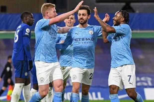 Belgen in het buitenland - Manchester City legt Chelsea zijn wil op, De Bruyne scoort en laat scoren