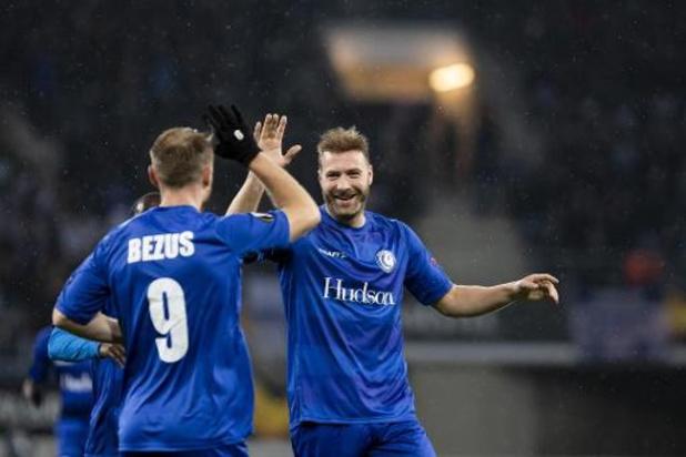 Europa League - Gent rijft groepswinst binnen na erg moeizame zege tegen Oleksandriya