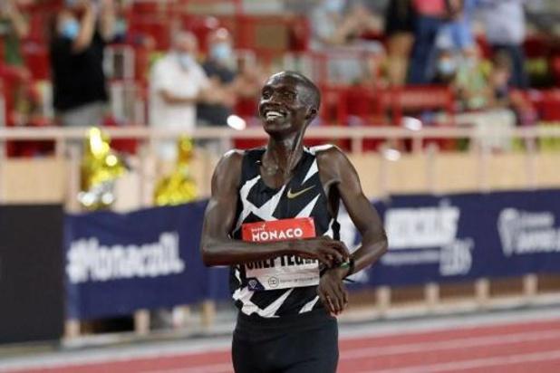 Joshua Cheptegei valt op 7 oktober wereldrecord van Kenenisa Bekele op de 10.000 meter aan