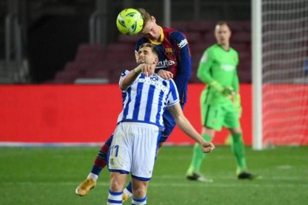 Belgen in het buitenland - Frenkie de Jong helpt Barcelona aan zege tegen Sociedad