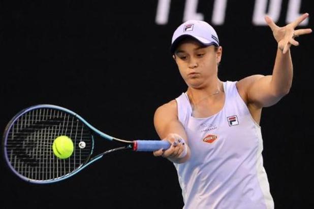 Ashleigh Barty stoomt in sneltempo door naar tweede ronde van Australian Open