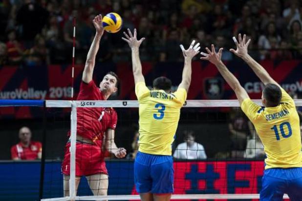 EK volley (m) - Red Dragons stranden in achtste finales na vijfsetter tegen Oekraïne