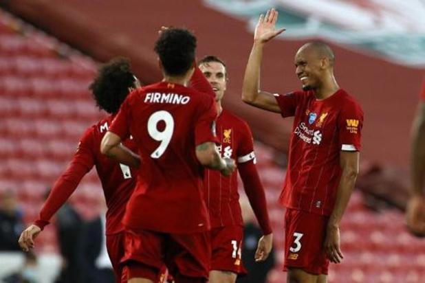 Belgen in het buitenland - Liverpool wint zonder Origi ruim van Crystal Palace, 19e titel kan donderdag een feit zijn
