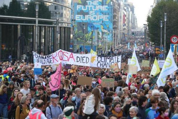 Klimaatmars: Organisatoren spreken van 70.000 deelnemers