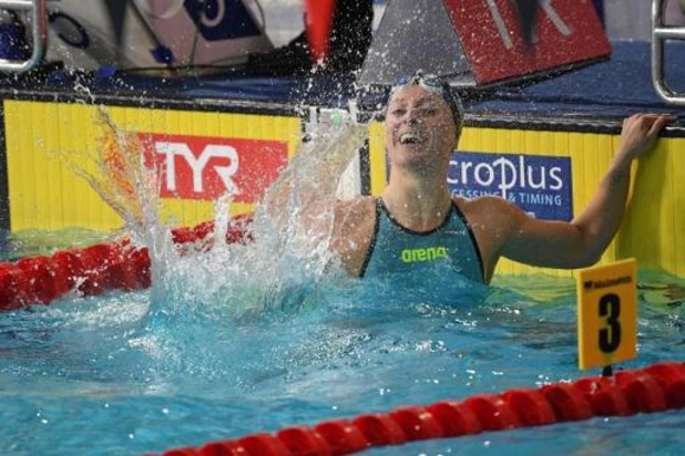 Nederlandse Kira Toussaint snelste ooit op 50 meter rugslag