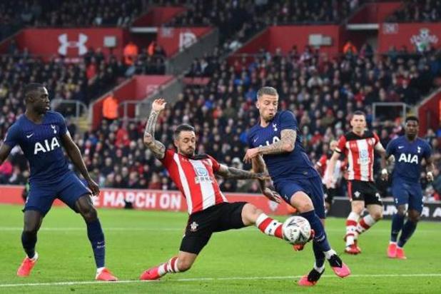 Les Belges à l'étranger - Tottenham, avec Alderweireld, contraint au replay par Southampton