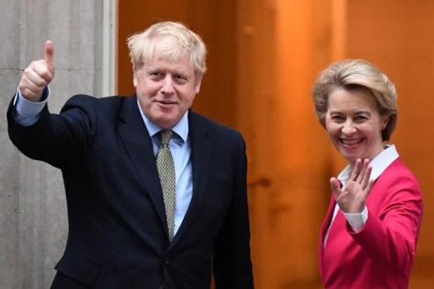 Commissievoorzitter von der Leyen trekt brexit-gesprekken naar zich toe