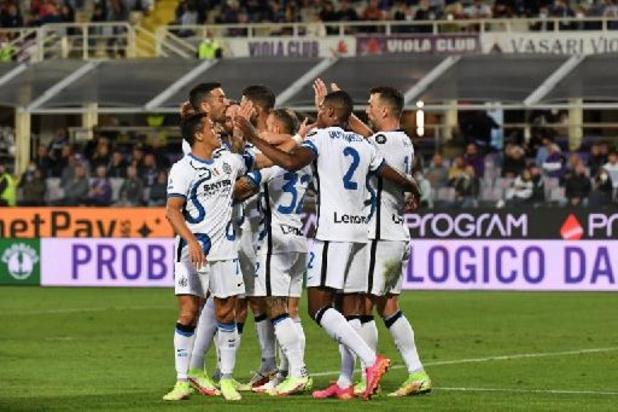 Serie A - L'Inter renverse une belle Fiorentina et reprend la tête