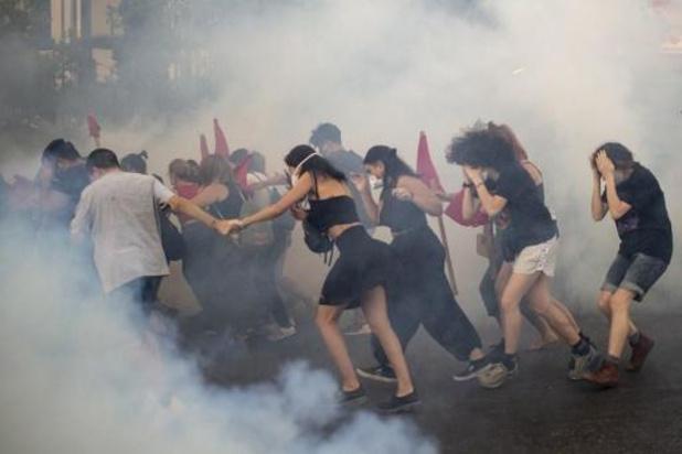 Neuf arrestations après des violences lors d'une manifestation à Athènes