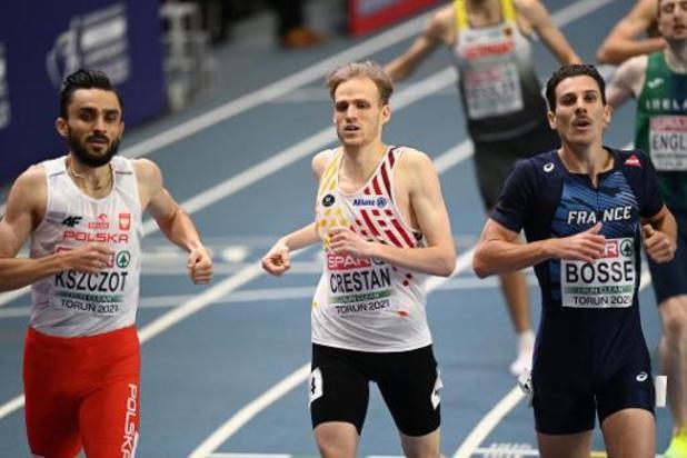 Championnats d'Europe d'athlétisme en salle - Eliminé de toute justesse en demi-finales du 800m, Eliott Crestan espérait aller en finale