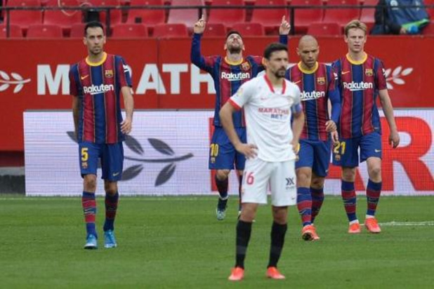 La Liga - Messi helpt Barcelona met goal en assist aan zege tegen Sevilla