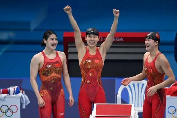 JO 2020 - Natation: les Chinoises championnes olympiques du 4x200 m avec un nouveau record du monde