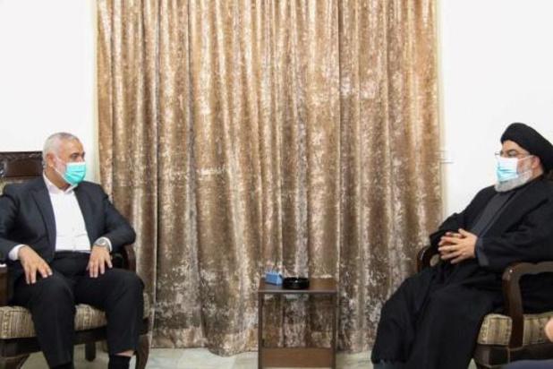 Le chef du Hezbollah reçoit le chef du Hamas en visite au Liban