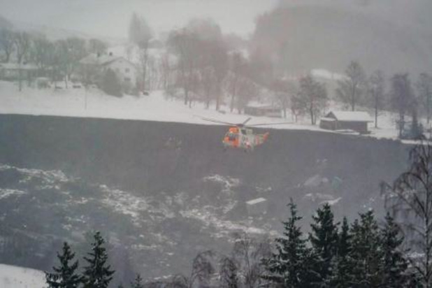 Norvège: Vingt-six personnes portées disparues après un important glissement de terrain