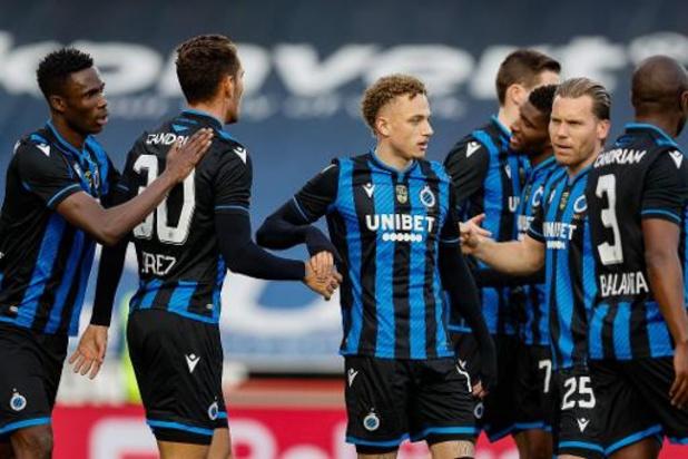 Deux matches d'alignement au programme pour le Club de Bruges à Charleroi et à Gand