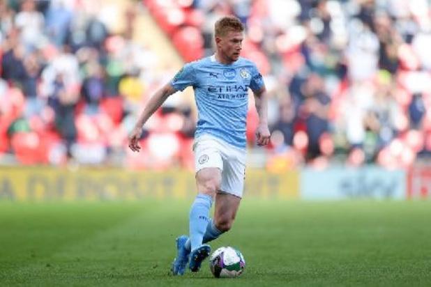 Kevin De Bruyne, pas remis d'une blessure musculaire, absent pour le match à Newcastle