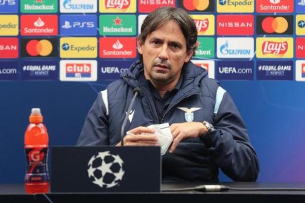 Lazio Rome-coach beschikt over slechts 16 spelers tegen Club Brugge