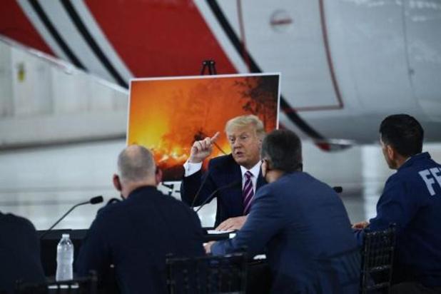 Bosbranden Californië - Trump dringt bij bezoek aan California aan op beter bosbeheer